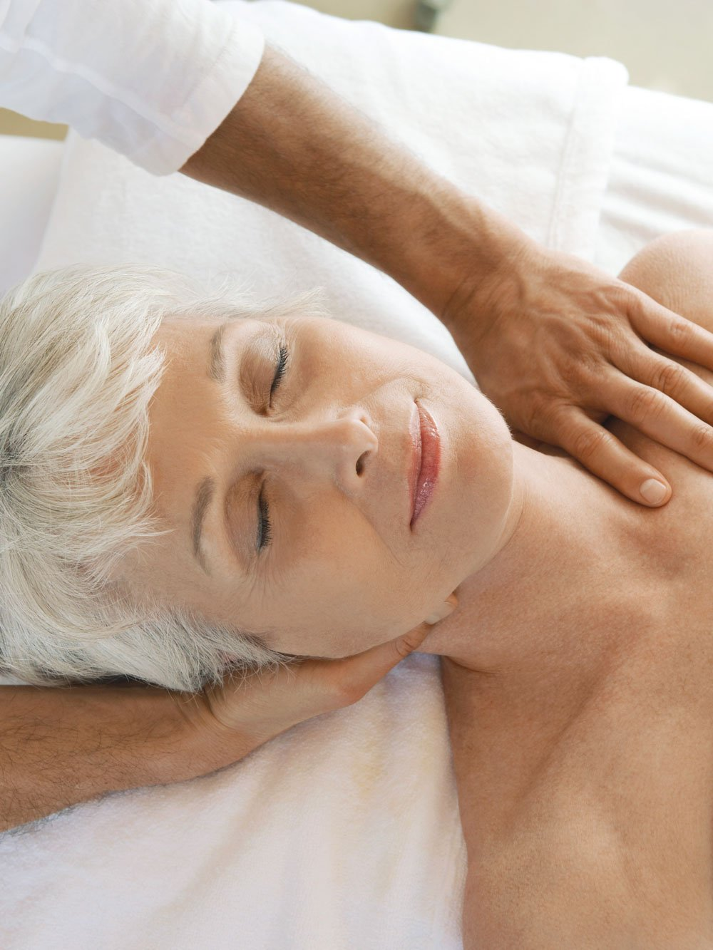 Senior woman getting a massage, The Orchards