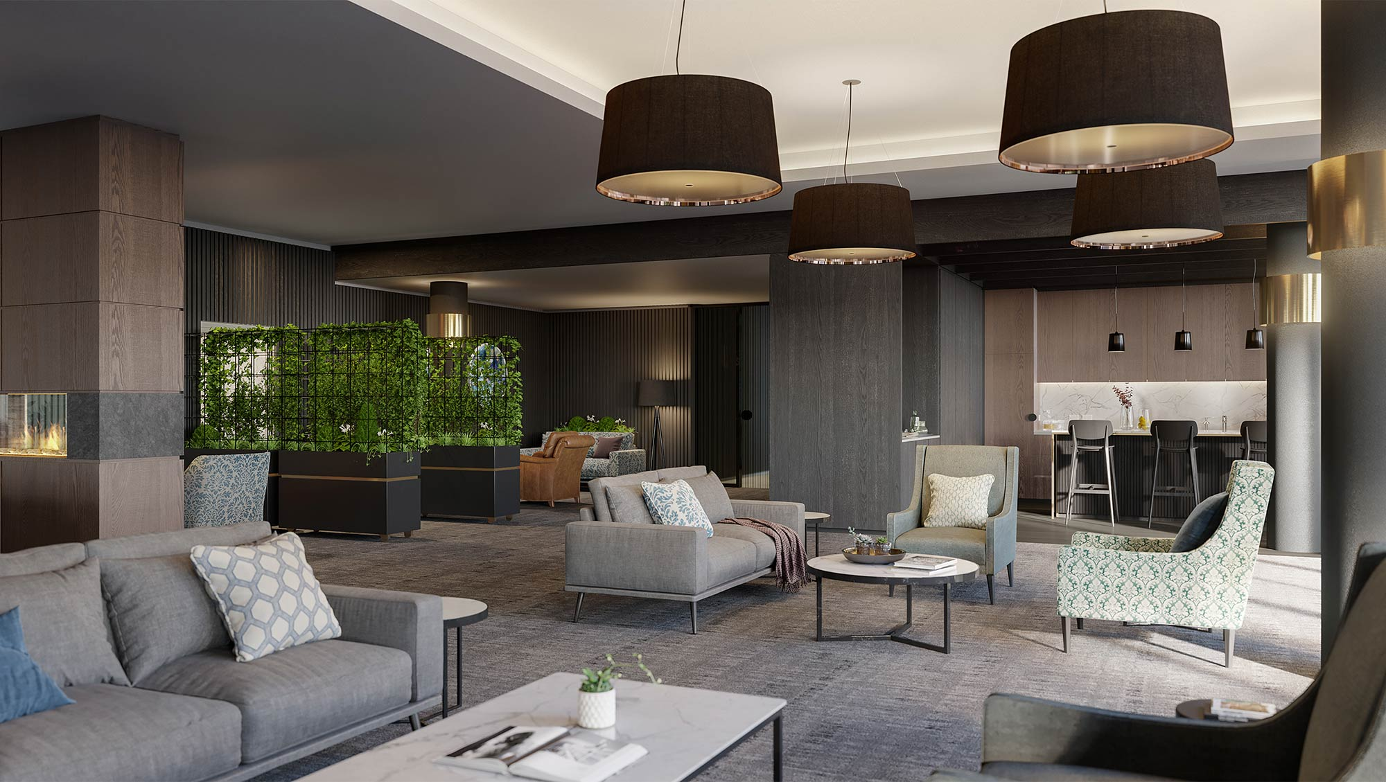Club lounge and bar at The Orchards Templestowe
