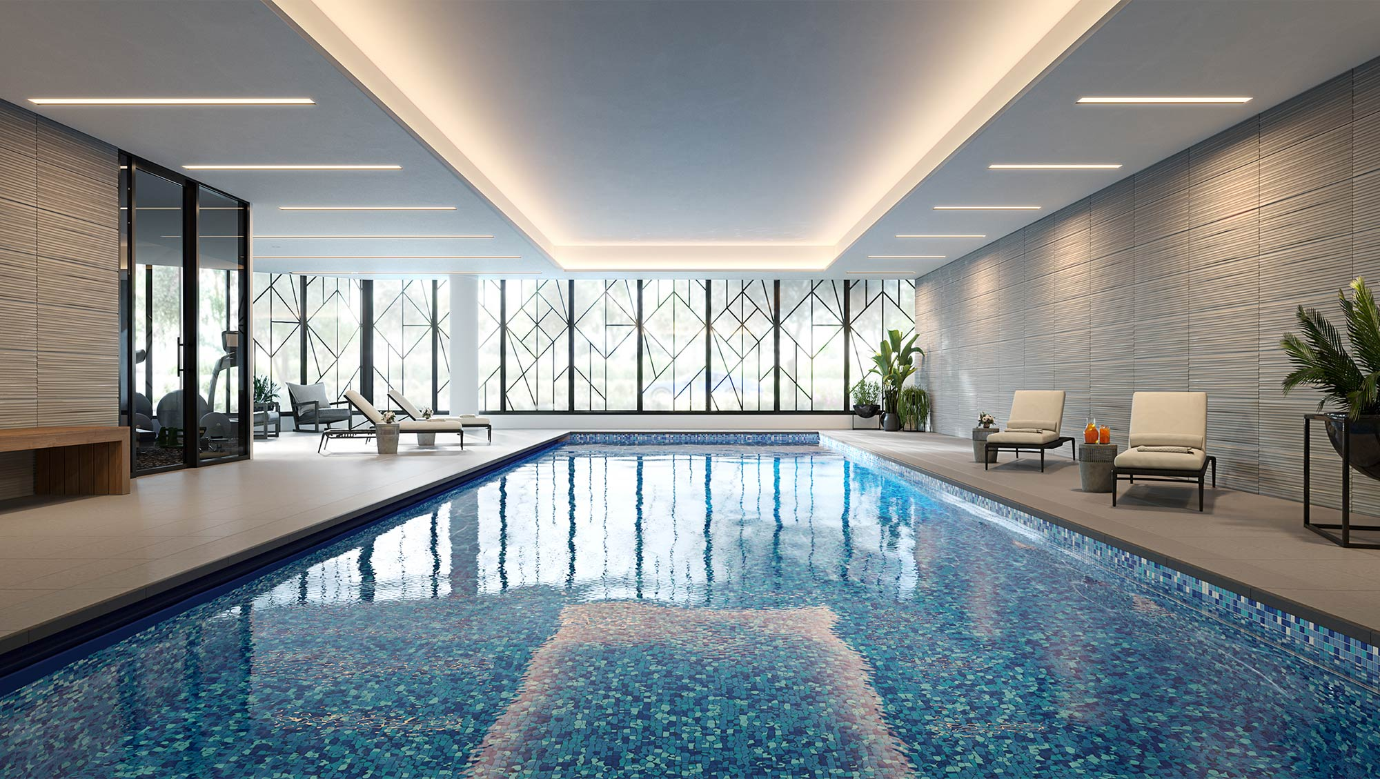 State of the art indoor swimming pool at The Orchards Templestowe