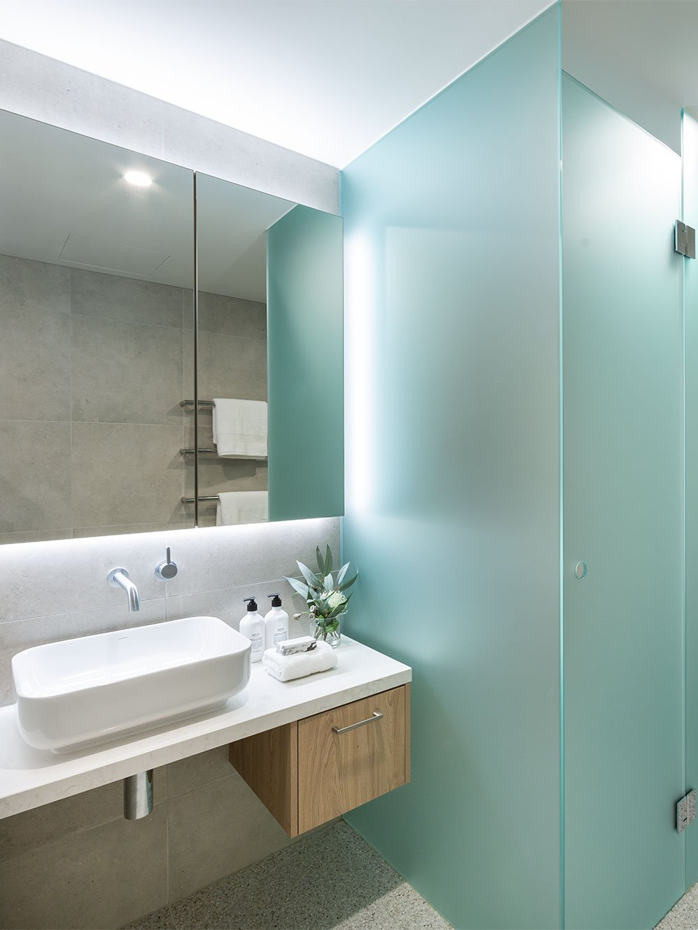 Retirement apartment bathroom at Baptcare The Orchards Templestowe