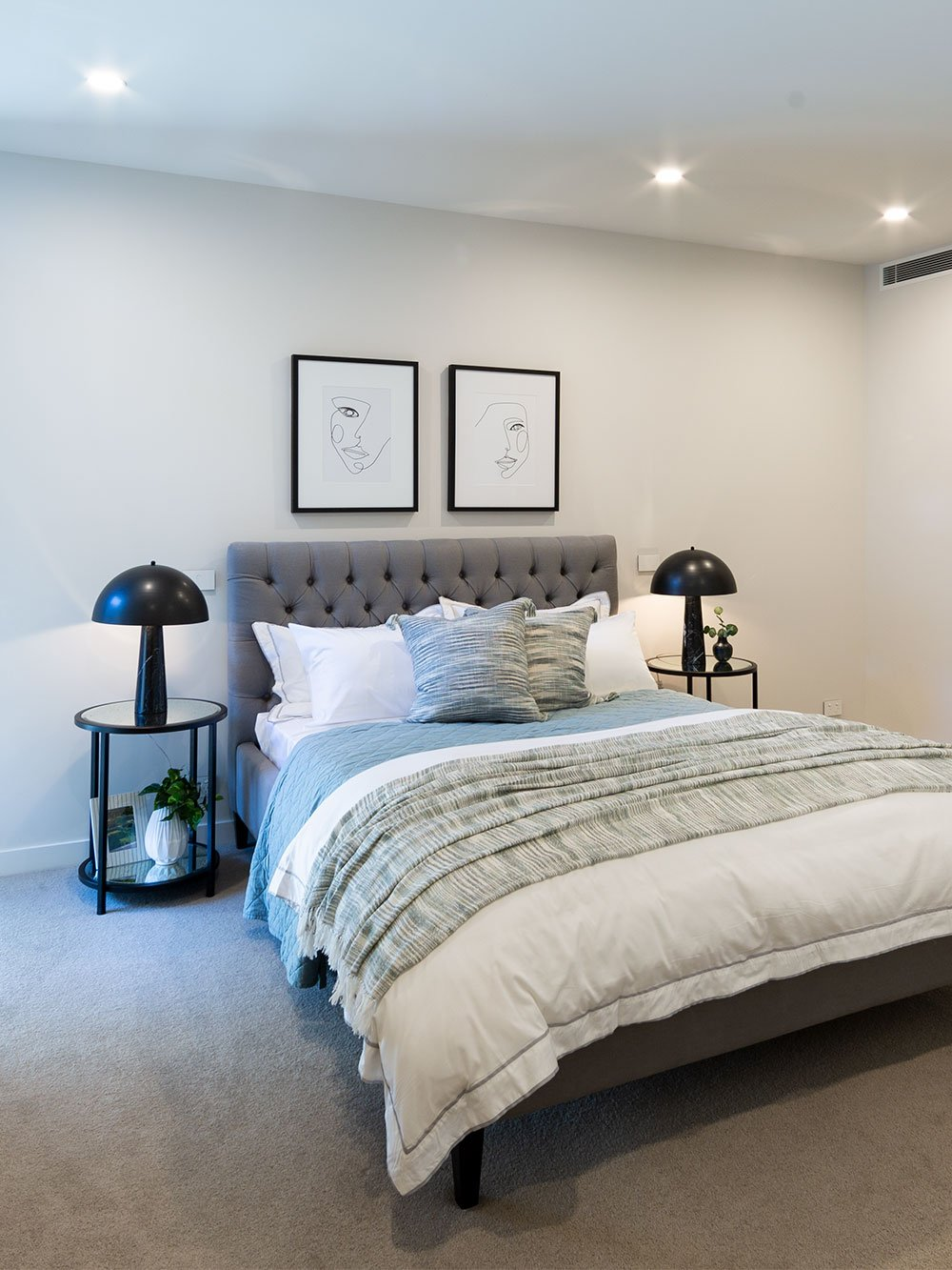 Retirement apartment bedroom at Baptcare The Orchards Templestowe