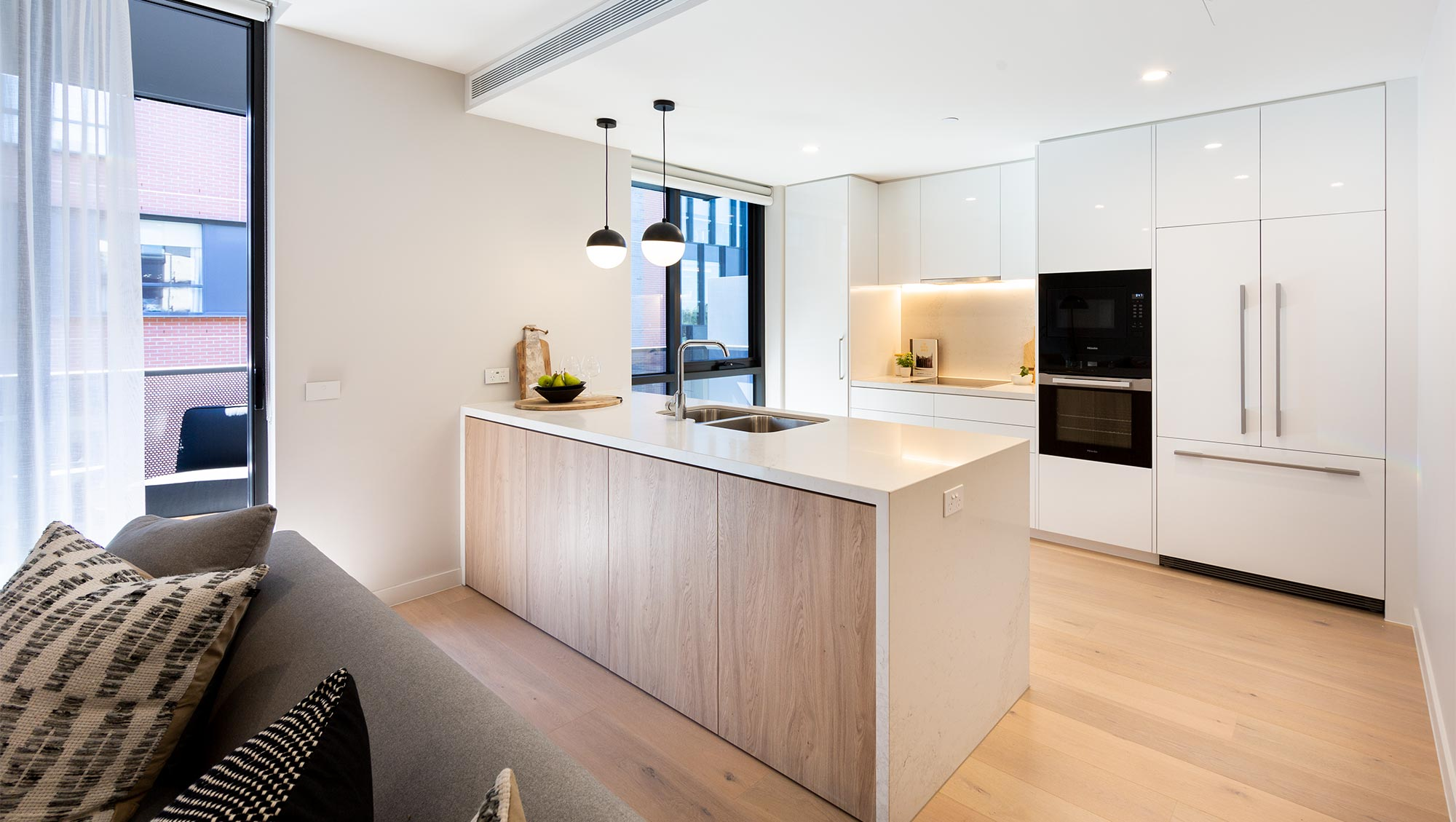 Retirement apartment kitchen at Baptcare The Orchards Templestowe