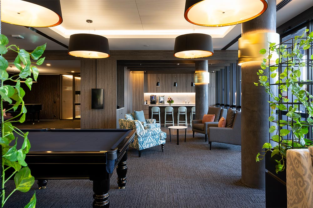 Club lounge and bar at Baptcare The Orchards Templestowe