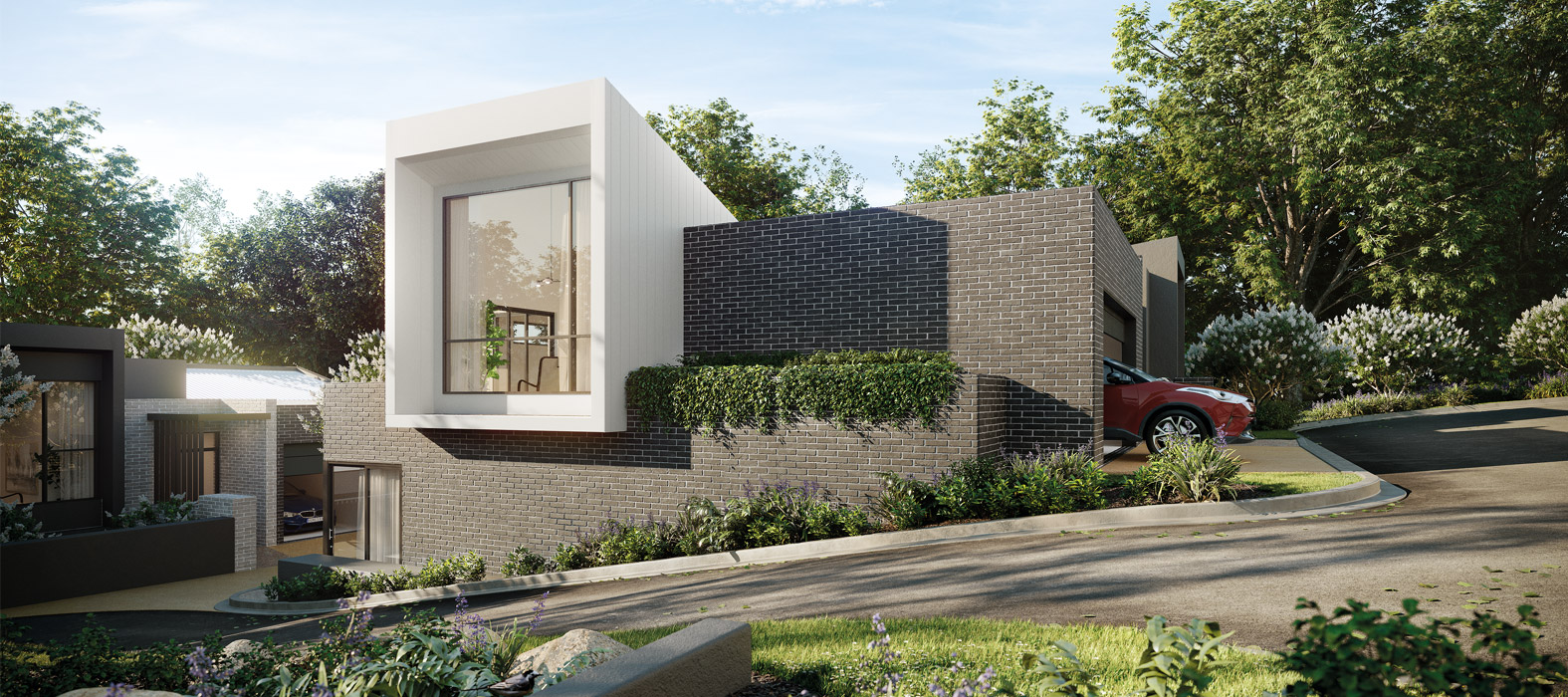 Baptcare, The Orchards - artist impression of villa from the side